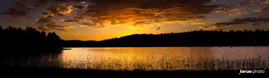 Panoramic HDR sunset over Dogtown Lake
