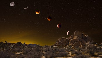 Blue Moon Eclipse Phases over Joshua Tree National Park