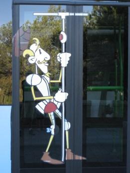 Don Quijote va en bus en Toledo