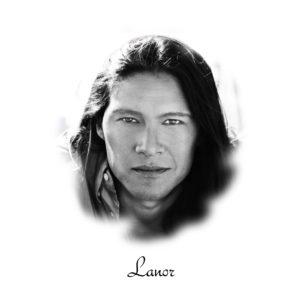 Portrait de Rick Mora amérindien