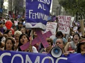 Marcha encabezada por Yakiri Rubio, Ciudad de México, 2014