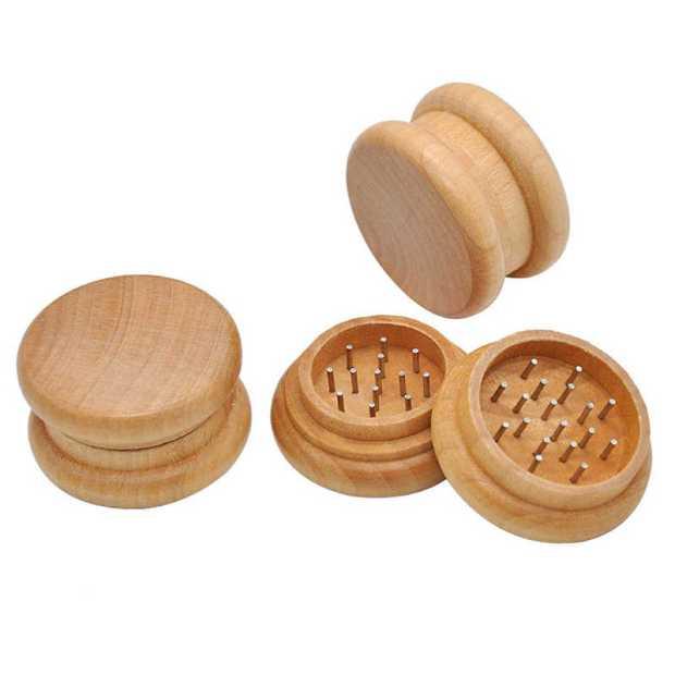 Moler cannabis: Grinder de madera