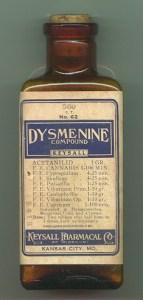 Dysmenine jarabe con extracto de cannabis indica para tratar los dolores menstruales