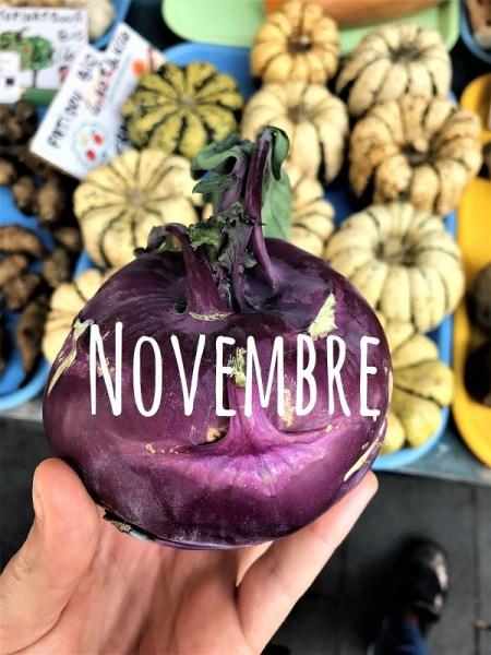 liste des fruits et légumes du mois de novembre