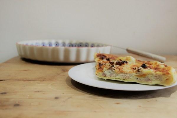recette de saison quiche automne patate douce banane thon