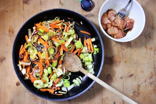 recette de saison facile recette de wok legumes et poulet