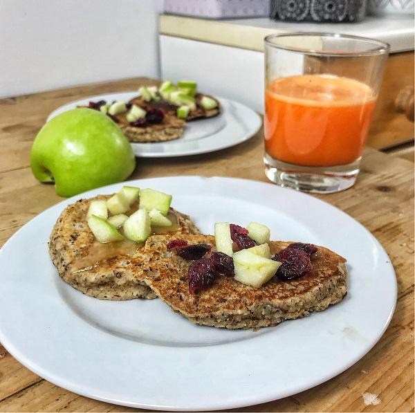 Recette de pancakes pour un petit d jeuner quilibr recettes de saison - Recette petit dejeuner sain ...
