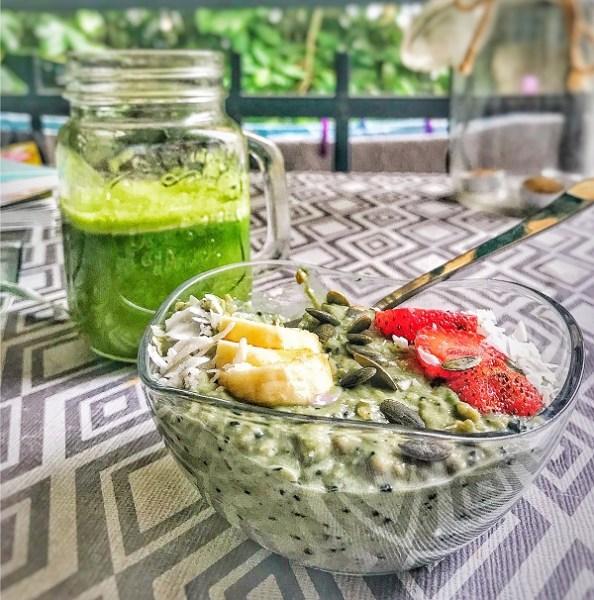 recette smoothie bowl vert spiruline