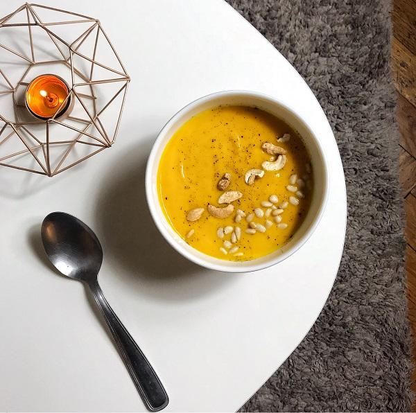 soupe potimarron patate douce et lait de coco