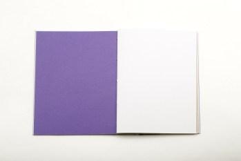 papier violet du carnet pampa