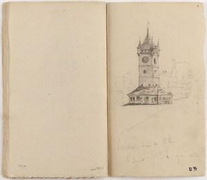 une belle page du carnet de voyage de Victor Hugo