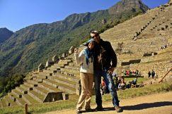 Que guapos en Machu Picchu