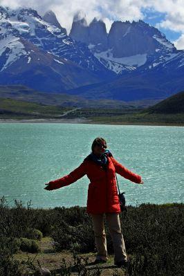 Ruth en el PN Torres del Paine