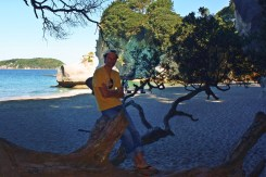 Victor en Cathedral Cove