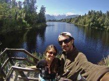 Ruth y Victor Lago Matheson y alpes del Sur