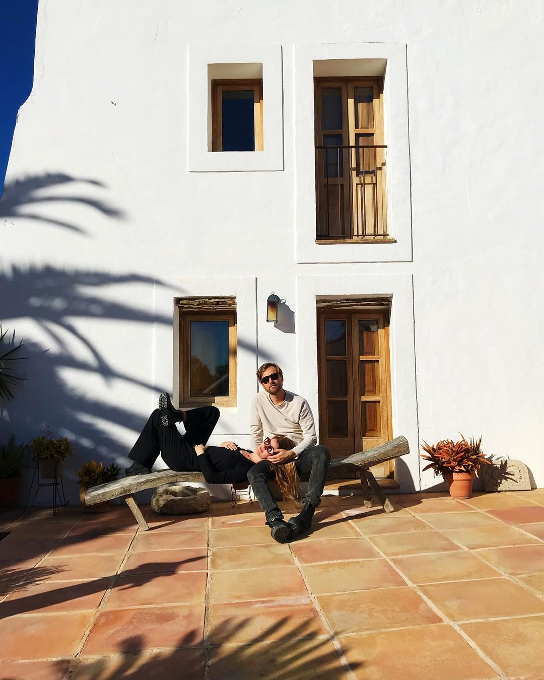 // Soaking up the winter sun // We hope you had great start into the New Year // We look forward to welcoming you this year + make 2018 a great season – Tavis + Nora {Ph. by Yvy} // #lascicadasibiza #lascicadas2018 #ibiza2018 ????????????????❤️