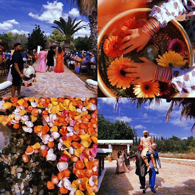 /// Cicadas Celebration Indian Style /// 🌼🧡🐘📿🌺 /// #lascicadasibiza #cicadascelebration #indianwedding #colourful #joyful #weloveit #event #weddingseason2018 #ibiza #india 💜🌼🙌🏼