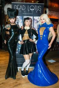 Latex brand Dead Lotus Couture selling at Le Boutique Bazaar. LBB co-Founder Alexandra houston interviewed by erotic marketing agency Lascivious Marketing [credit: Hyder Images]