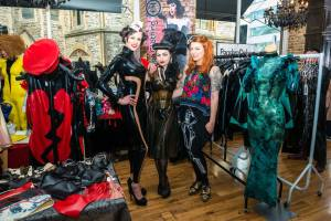 vendors and stall at erotic alternative fashion popup Le Boutique Bazaar. Co-Founder Alexandra Houston interview with erotic marketing agency Lascivious Marketing. [credit: Hyder Images]