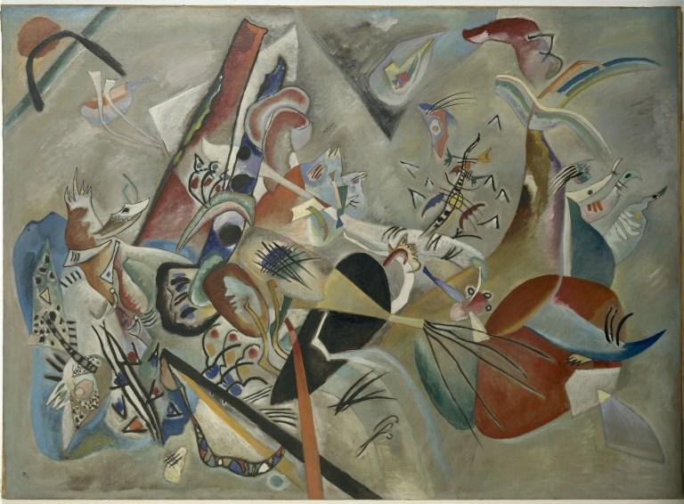 Im Grau (En el gris) 1919 Óleo sobre lienzo 129 x 176 cm