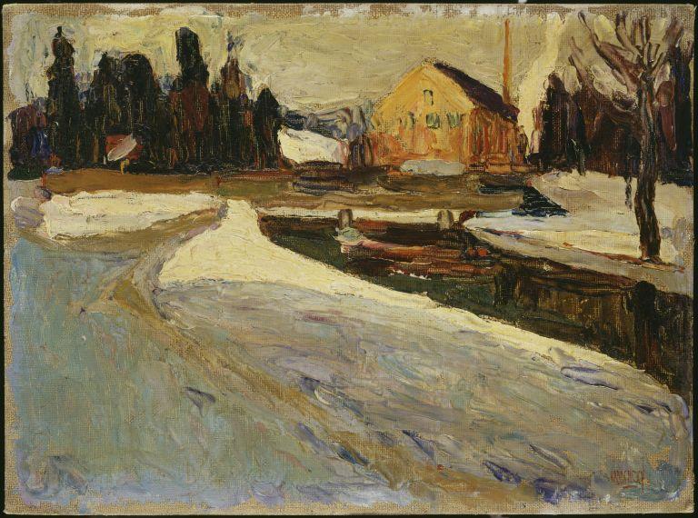 Schwabing, Wintersonne (Schwabing: Sol de invierno), 1901.