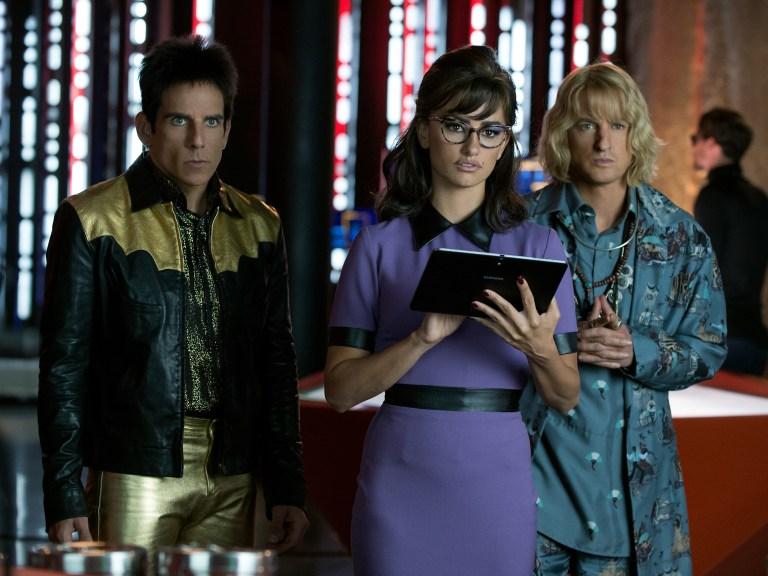 Ben Stiller plays Derek Zoolander, Penelope Cruz plays Valentina Valencia and Owen Wilson plays Hansel in Zoolander No. 2 from Paramount Pictures.