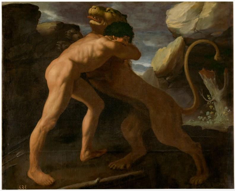 12.- Francisco de Zurbarán, Hércules lucha contra el león de Nemea, 1634, Museo Nacional del Prado ©Archivo Fotográfico. Museo Nacional del Prado