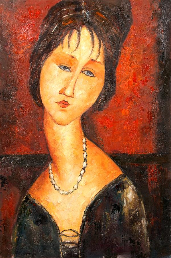 Retrato de Jeanne Hébuterne, 1917, colección privada,