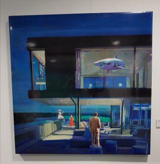 Obra de Jorge Hernández (cotilleo: Antonio Banderas, compró este mismo cuadro en versión de día ¡oh!)