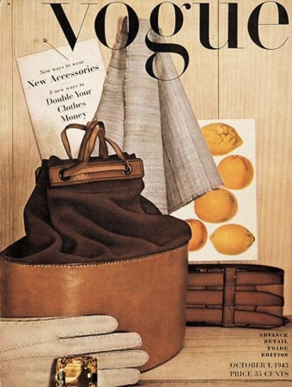 La primera portada de Irving Penn para Vogue 1943
