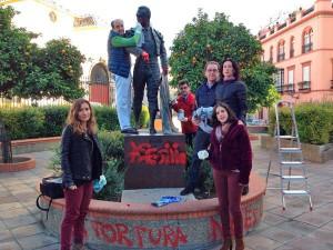 moeckel limpieza monumento Curro Romero
