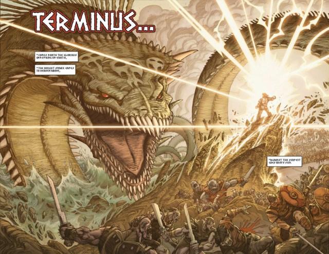 Ragnarök de Walter Simonson, batallas de dioses.