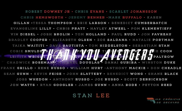 Gracias Vengadores Thank you Avengers Endgame