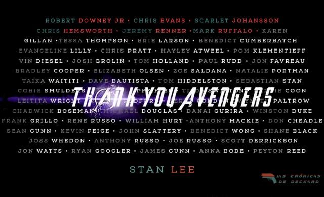 Gracias Vengadores Thank you Avengers Endgame