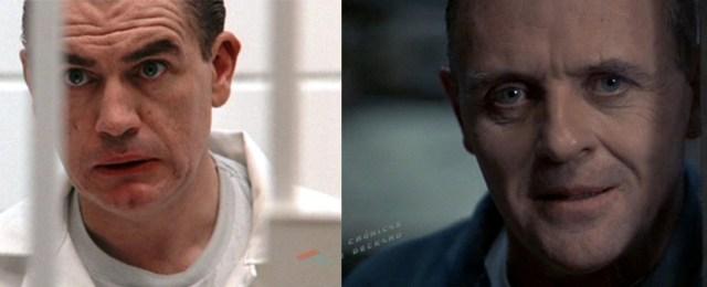 Brian Cox y Anthony Hopkins como Hannibal Lecter