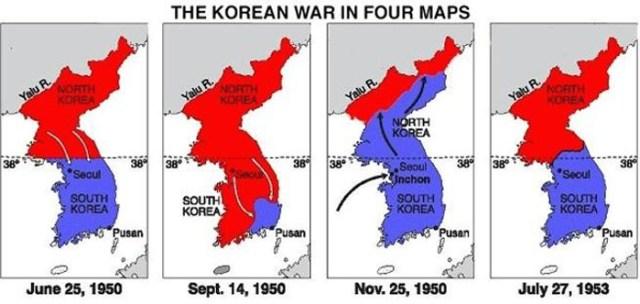 Mapa Guerra de Corea.