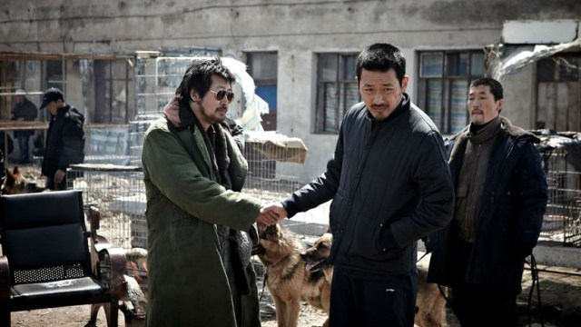 The Yellow Sea, Ha Jung-woo y Kim Yoon-seok en una escena de la película.