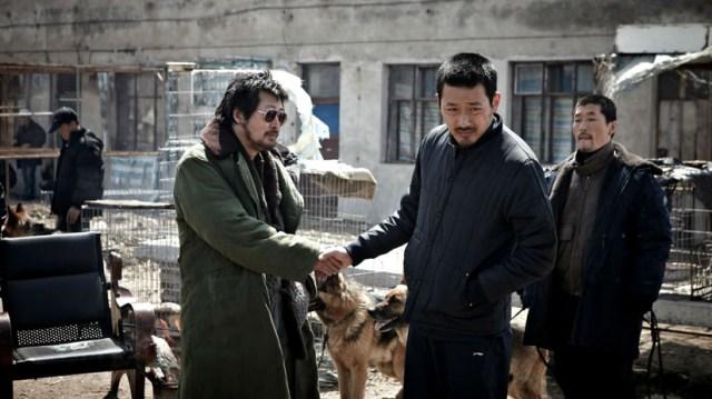 The Yellow Sea, Ha Jung-woo y Kim Yoon-seok en una escena de la película.