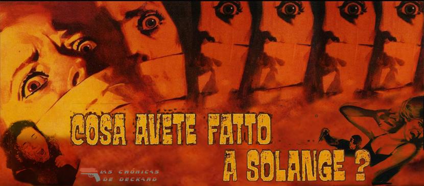 ¿Que habéis hecho con Solange?, Portada Crónicas de Deckard