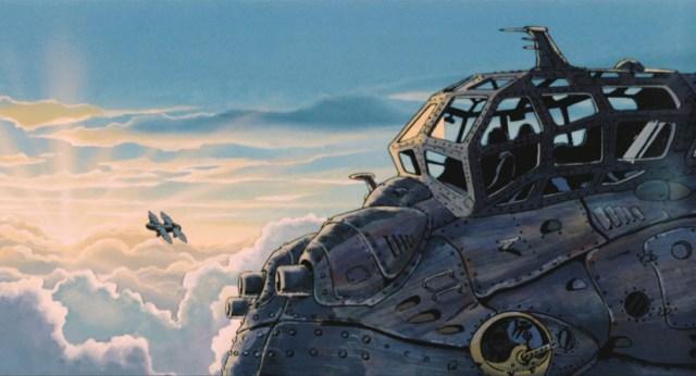 En Nausicaä del Valle del Viento. habrá escenas de combates aéreos.