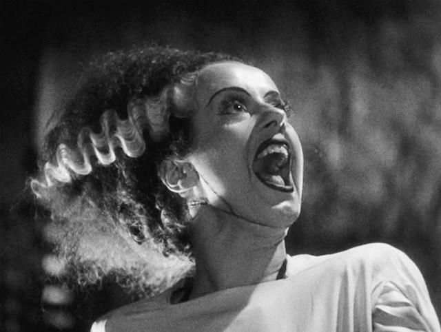 Elsa Lanchester en La novia de Frankenstein.