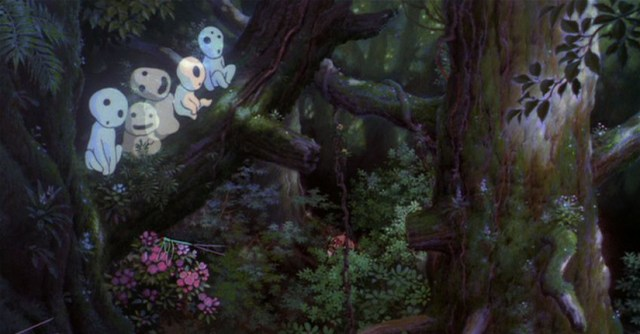 Los bosques de 'La princesa Mononoke'