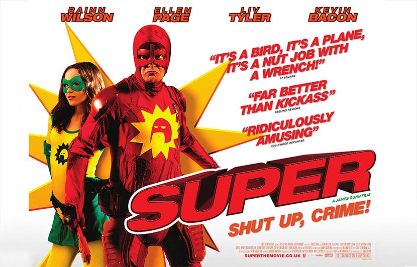 Poster Super James Gunn 2010 Crítica las Crónicas de Deckard