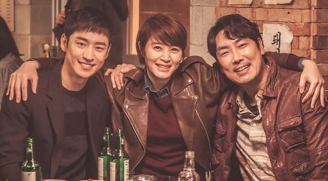 Signal. Lee Je-hoon, Kim Hye-soo, y Cho Jin-woong.