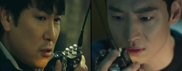 Cho Jin-woong y Park Hae-young en el drama Signal.
