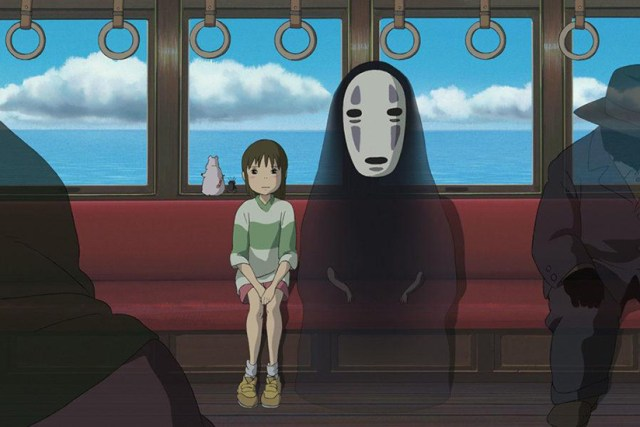 El viaje de Chihiro, el viaje en Tren.