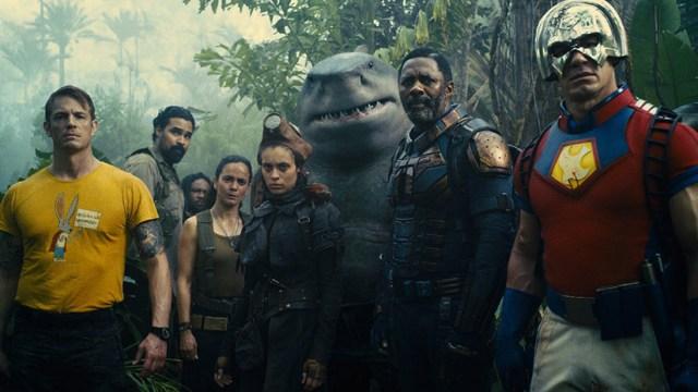 Joel Kinnaman, Daniela Melchior, King Shark, Idris Elba, John Cena en 'El Escuadrón Suicida'