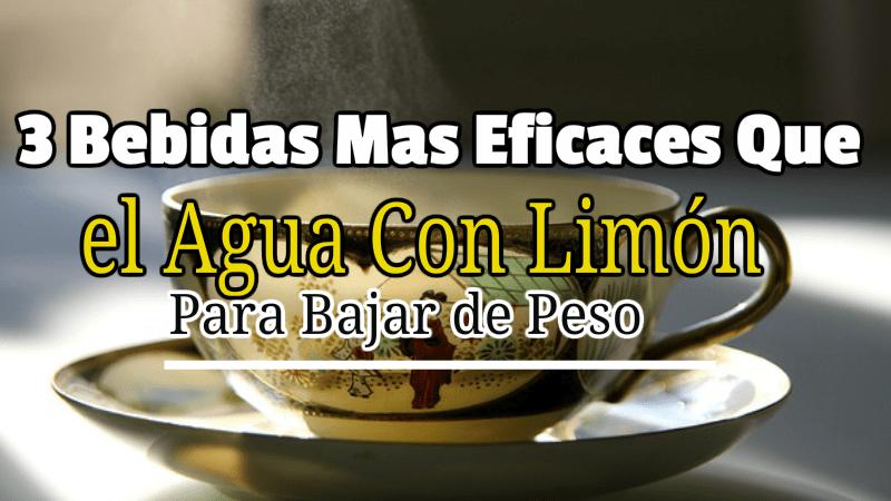 3 Bebidas Mas Eficaces Que el Agua Con Limón Para Bajar de Peso