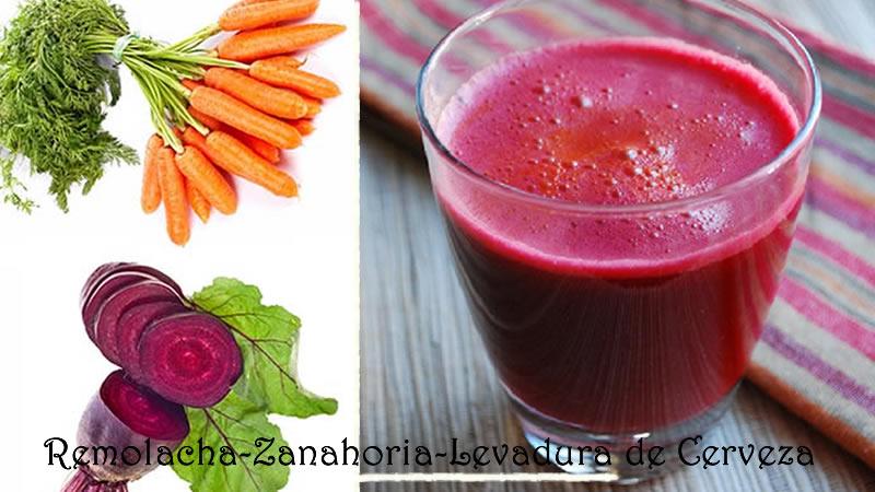 Combate La Anemia con un Zumo de remolacha, Zanahoria y Levadura de cerveza