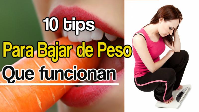 10 Tips Para Bajar de Peso Que Realmente Funcionan